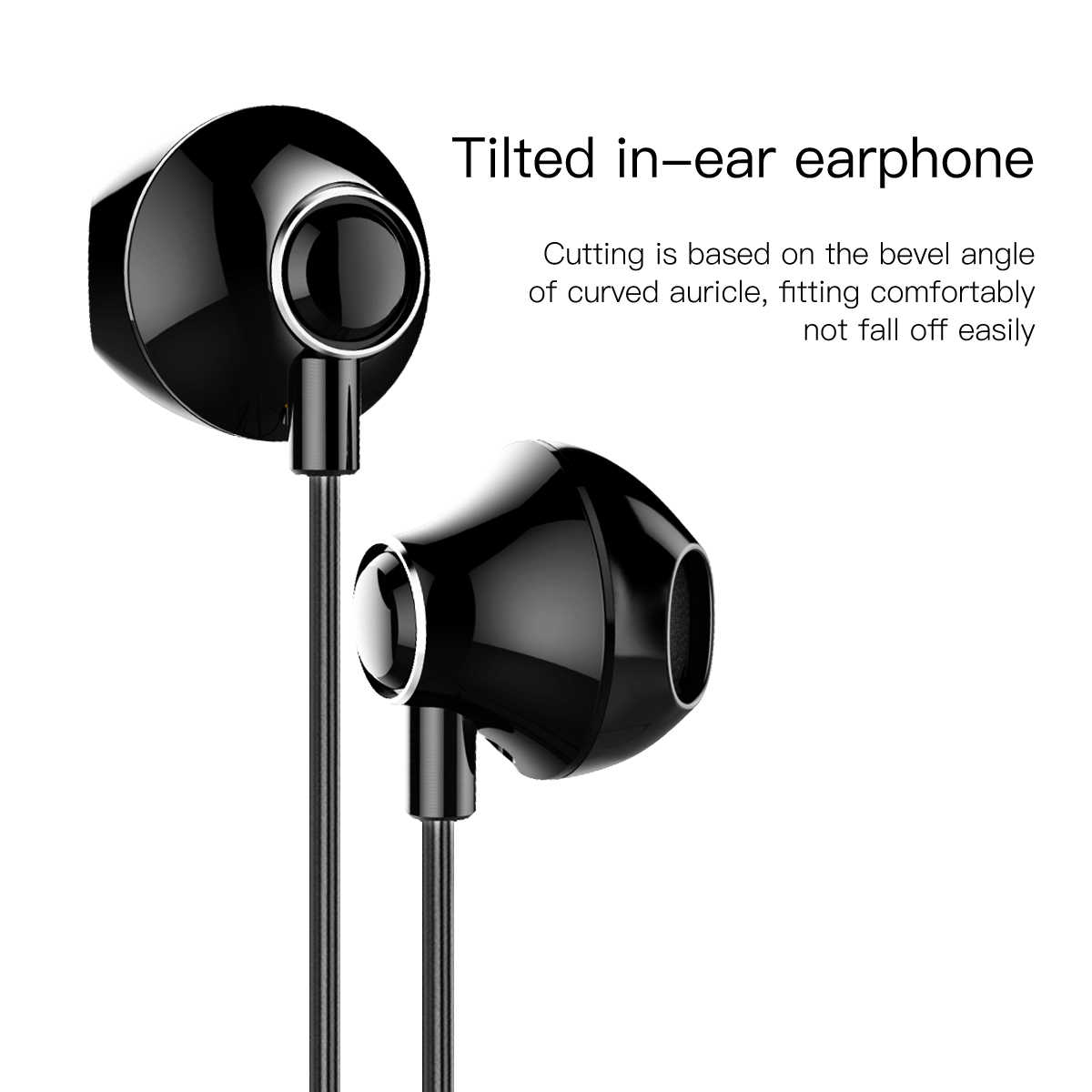 baseus wired earphone for phone in ear earphone with mic stereo headset earbuds earpiece for samsung  [ 1200 x 1200 Pixel ]