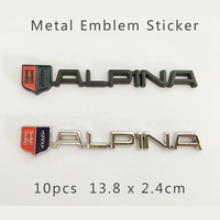 Wholesale Free Shipping 10pcs Boot Metal 3D Car Trunk Emblem Auto Side Rear Trunk Badge Stickers