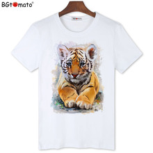 BGtomato real photos 3D t shirts tiger printing fashion summer top tees Original brand good quality casual T-shirts
