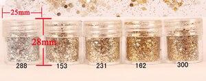 Image 2 - Nail 1 Jar/Box 10ml Nail Pink Rose Mix Color Mix Nail Glitter Powder Sequins Powder for Gel Nail Decoration 300 Colors 4 72
