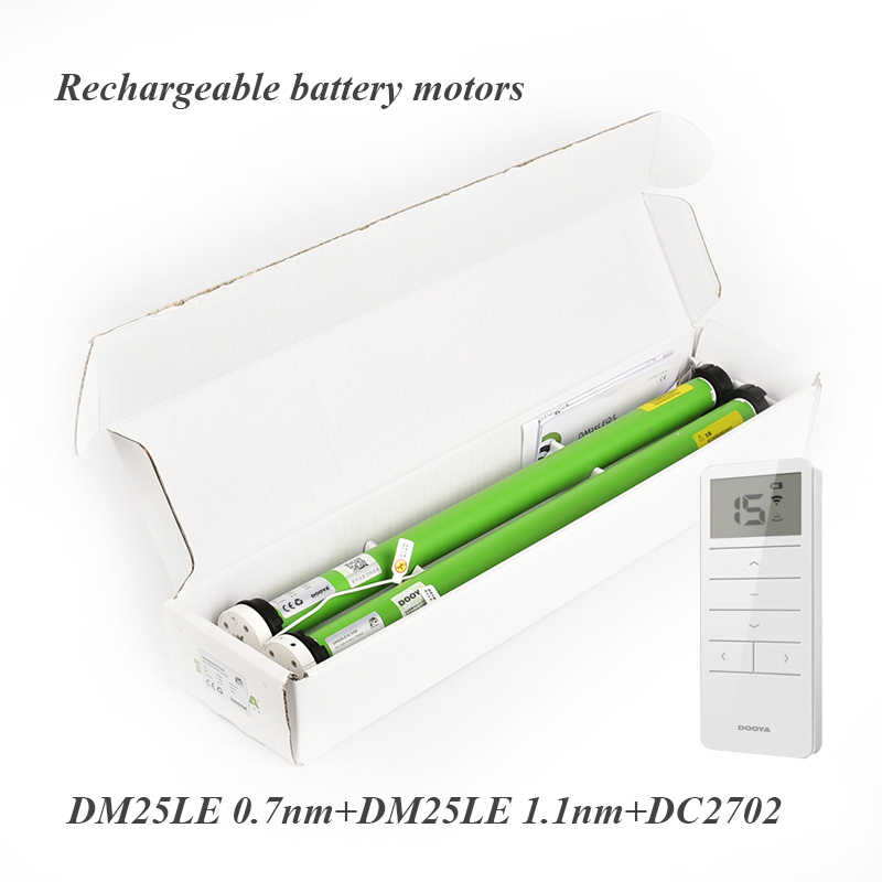 Dooya Sunflower electronic blinds rechargeable battery Tubular Motor for 38mm tube with multichannel Remote Control