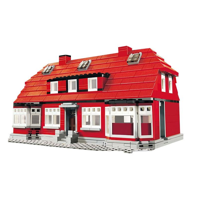 bricks toy DIY Building Blocks 17006 Compatible with Lego Exclusive Set #4000007 Ole Kirk's House new big size 40 40cm blocks diy baseplate 50 50 dots diy small bricks building blocks base plate green grey blue