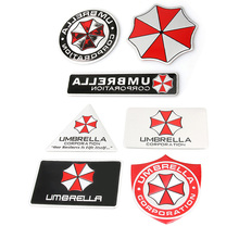 Алюминиевая 3d-наклейка «Umbrella corporation» для автомобиля, аксессуары, наклейки для ford focus, cruze, kia rio, skoda, mazda, opel, M, bmw, vw, audi