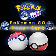 power bank for Mobile phone AR game Pokemon Go Pokeball power bank 12000 Mah dual USB LED Quick phone Charge Power Bank