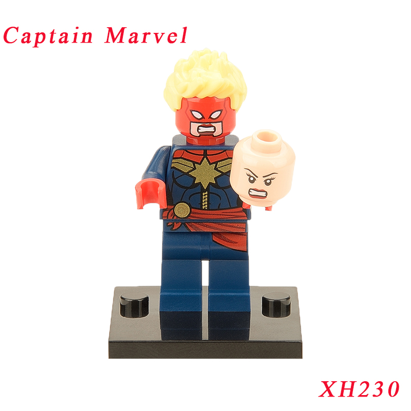 Captain Marvel Mini Bricks Single Sale Super Heroes X-Men Apocalypse Figures Building Blocks Models Diy Toys For Children Xh227 single sale super heroes thor spiderman captain america batman hawkeye bricks action building blocks toys for children xh 004