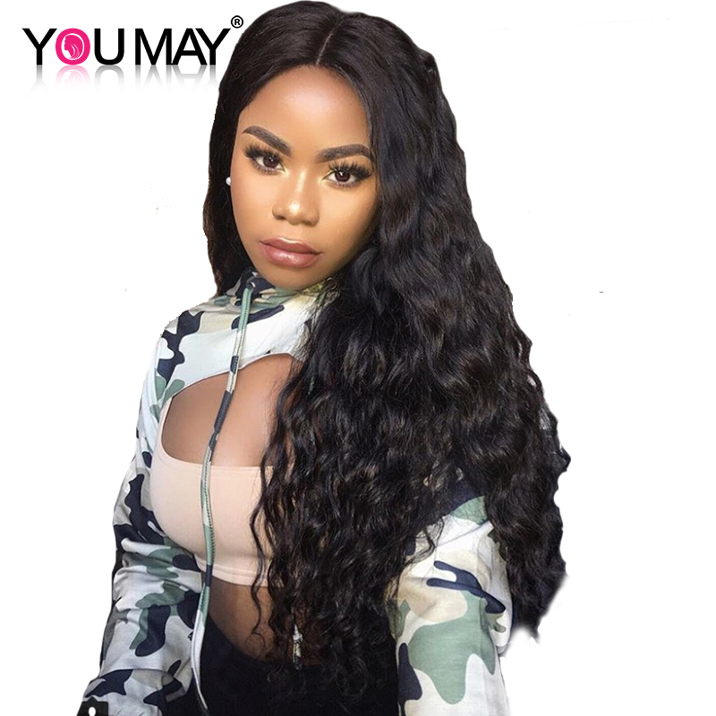 Pre Plucked Loose Wave 250 Density Lace Front Human Hair Wigs With Baby Hair Brazilian Remy