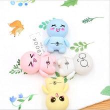 4Pcs/lot Stationery Supplies Kawaii Cartoon Big head doll Erasers office Correction Kid learning Gifts