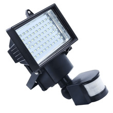 Solar powered outdoor led Garden Lights 60 LEDs PIR Body Motion Sensor Solar Floodlights Spotlights Solar