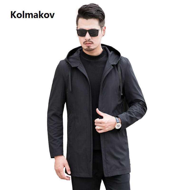 2019 spring new arrival Men's fashion business Jacket high quality   trench   coat men casual Windbreaker size M-7XL 8XL