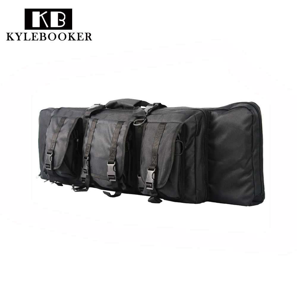 цена на 38inch Gun Case Hunting Rifle Case Shotgun Gun bag Airsoft Holster Protection Pouch Shoulder Bag With magazine Accessory bag