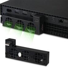 Pour XBOX ONE X Console refroidisseur externe 3 ventilateurs souper Turbo haute vitesse système de refroidissement ventilateur pour Microsoft XBox One X Console de jeu