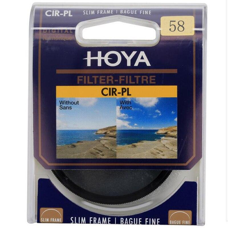 Hoya 58mm filtro polarizador CPL para Nikon Canon DSLR Objetivos para cámaras