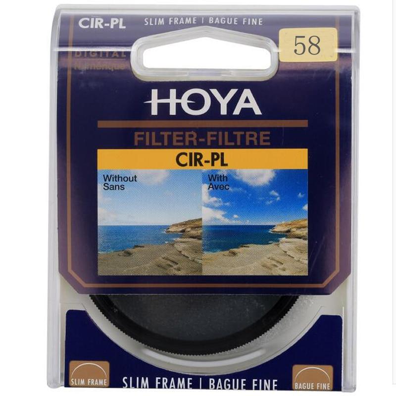 Hoya CPL filtro 58mm polarizante Circular CIR-PL polarizador delgado para lente de cámara