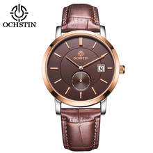 Brand Classic Fashion Casual Business Watch Men Quartz Analog Wrist Watches Leather Strap Sapphire Calendar Clock