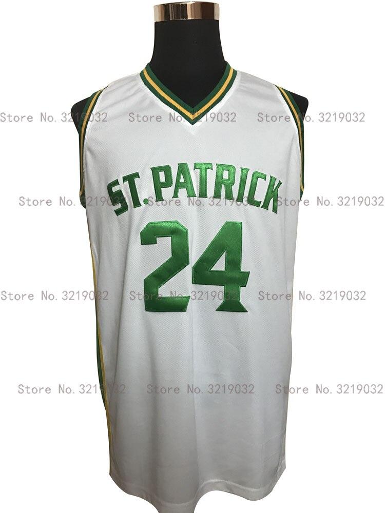 online retailer 2d311 71d97 Tanio męska koszulka Throwback Kyrie Owen 24 St.Patrick High School biała  koszulka do koszykówki Patchwork Vintage Shirt Darmowa wysyłka