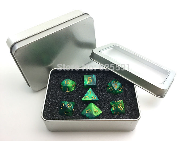 10 pcs Metal Boxes for Dice Organizer Storage Square Glossy Silver Tin Box Novelty 11 7