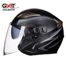 GXT Motorcycle Helmet Open Face Helmet ABS Motorbike Helmet Electric Safety Double Lens Racing Casque Casco Moto Helmet