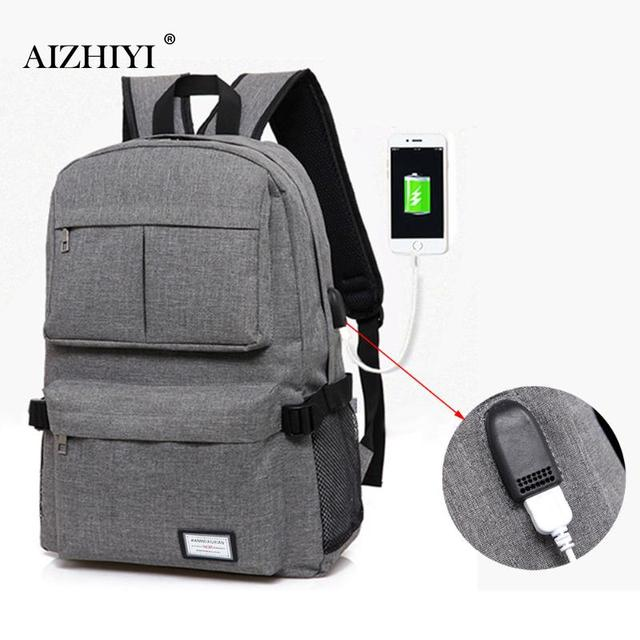 93a97e5505a6 Multifunction Unisex USB Charging Men Laptop Nylon Backpacks Casual Travel  for Teenager Fashion Leisure Backpack Anti