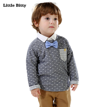 Boys Clothing Kids Fahioned Shirt Long Sleeve Boys Shirts For Children Boy Tops Blouse Bowknot Down Casual Checked Clothes