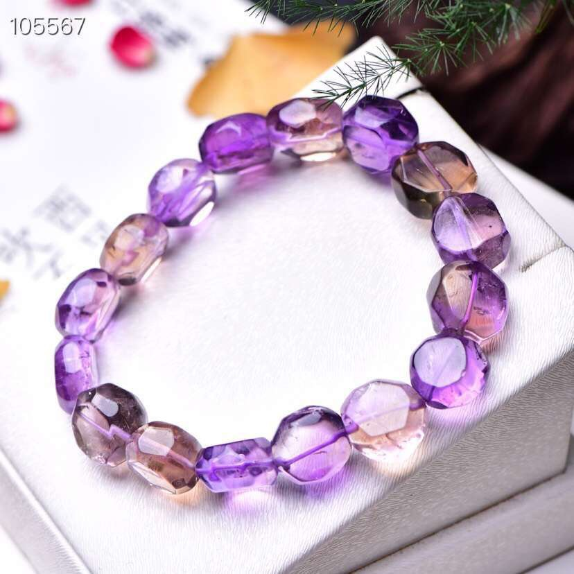 Natural Ametrine Bracelet For Women Anniversary Gift Charms Yellow Purple 11mm Beads AAAAA Stretch Crystal Bracelet JewelryNatural Ametrine Bracelet For Women Anniversary Gift Charms Yellow Purple 11mm Beads AAAAA Stretch Crystal Bracelet Jewelry