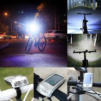 Rower 4 LED Solar Powered USB Akumulator Przednie Światła + Tail Light Lampa Bezpieczeństwa Jasne Światło Rowerów Kierownica Góra Regulowany P60