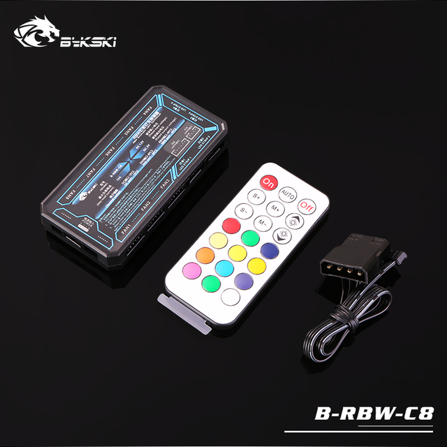 Bykski B-RBW-C8 rbw lighting system led controller remote control support control many rbw equipment synchronous motherboard 5V