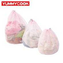 3 pcs/set Mesh Drawstring Laundry Bags Home Storage Organization Wholesale Bulk Lots Accessories Supplies Products