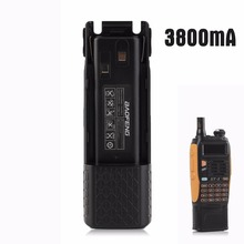 For Baofeng Professional Bf-UV82-UV8D Walkie Talkie Enchance Length Intercom Lithium Battery 3800 Mah Black Drop Shipping