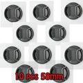 100% profesional 10 unids 58mm centro pinch tapa frontal del objetivo para canon nikon sony pentax todo 49mm cámaras