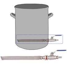 """Домашний сварочный чайник/кег конвертации комплект w/1"""" фильтр bazooka пивной бродильный 2 шт. шаровой клапан комплект 304 SSS"""