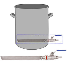 "Homebrew Weldless Kettle/Keg Convert Kit w/ 12"" Bazooka Screen Beer Mash Tun 2-piece Ball Valve Kit 304 SSS(China)"