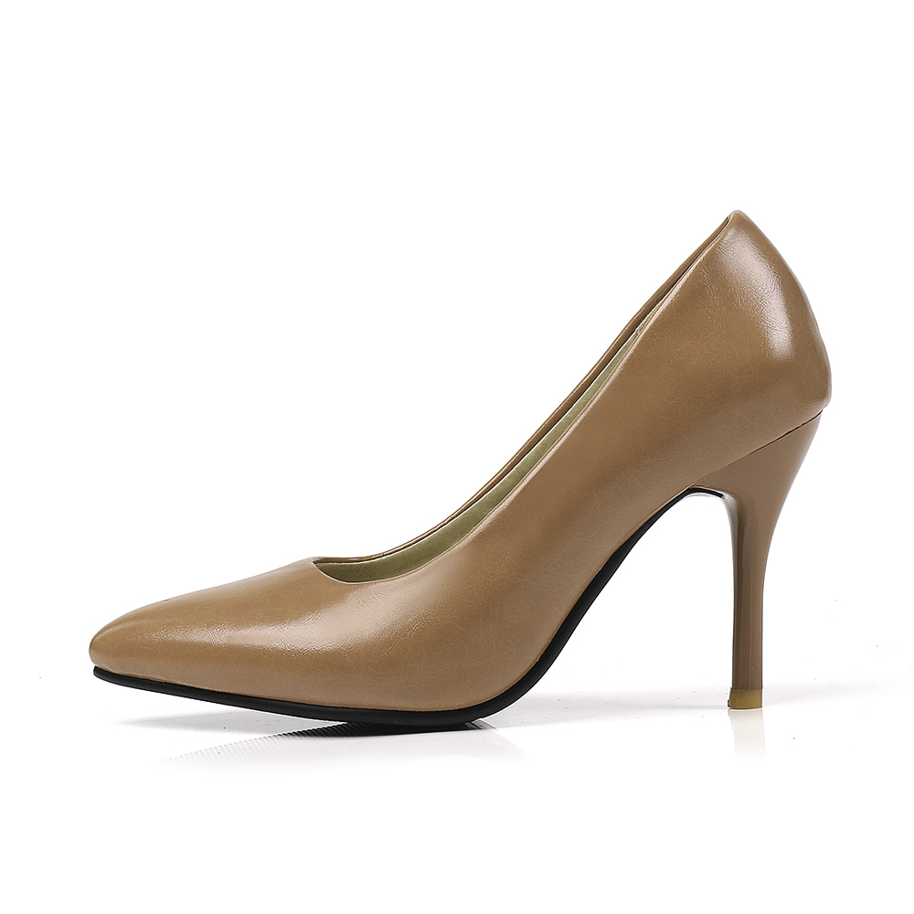 7190c26d9392b US $19.18 41% OFF|Brand New Sales Mature Black Caramel Women Formal Nude  Pumps Stiletto Heels Lady Dress Shoes EC82 Plus Big Size Small 10 45 30-in  ...