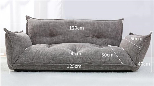 TA105 (8) Fashionable Design Flooring Couch Mattress 5 Place Adjustable Couch  Plaid Japanese Type