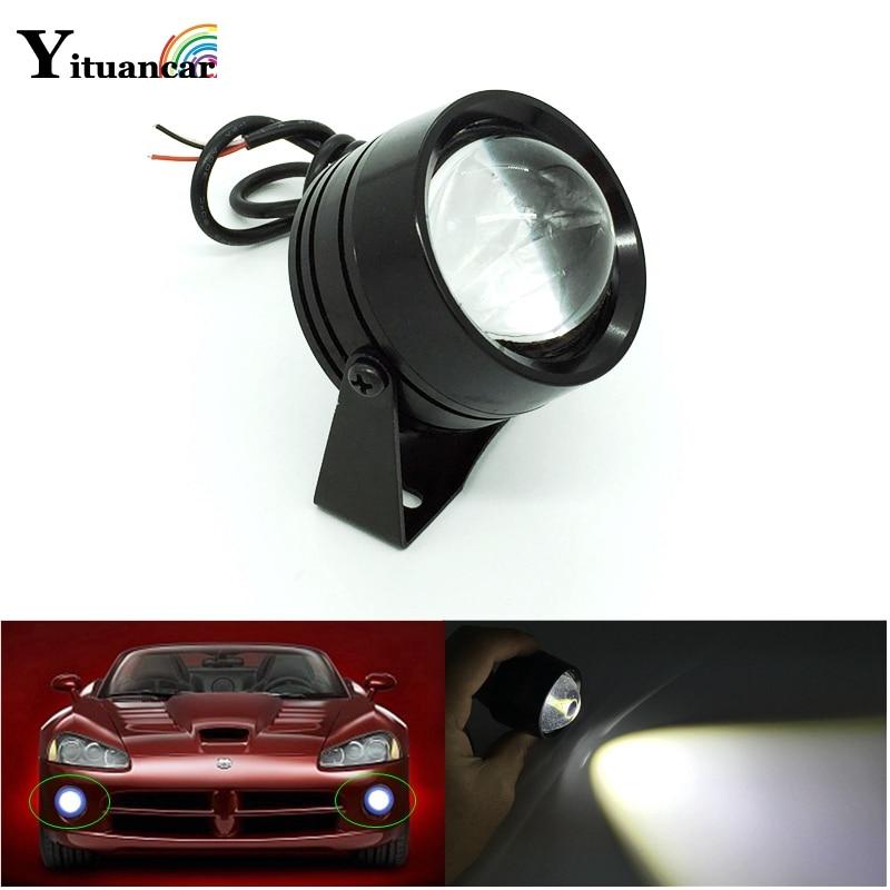 Yituancar 1Pcs DRL External Eagle Eye Flash LED Daytime Running Light Car Styling Source Warning Fog Lamp Reverse Parking Lights
