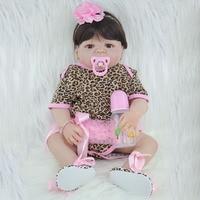 55 cm Volledige Siliconen Prinses Pop Reborn Babypoppen Levensechte Body Baby Meisje Kinderen Verjaardagscadeau Brinquedos Hot Koop Poupee