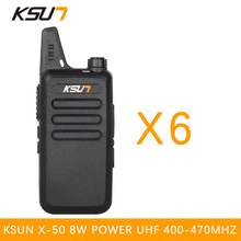 (6 PCS)KSUN X-50TFSI Ham Two Way Radio walkie talkie Dual-Band Transceiver BUXUN X-50(Black)