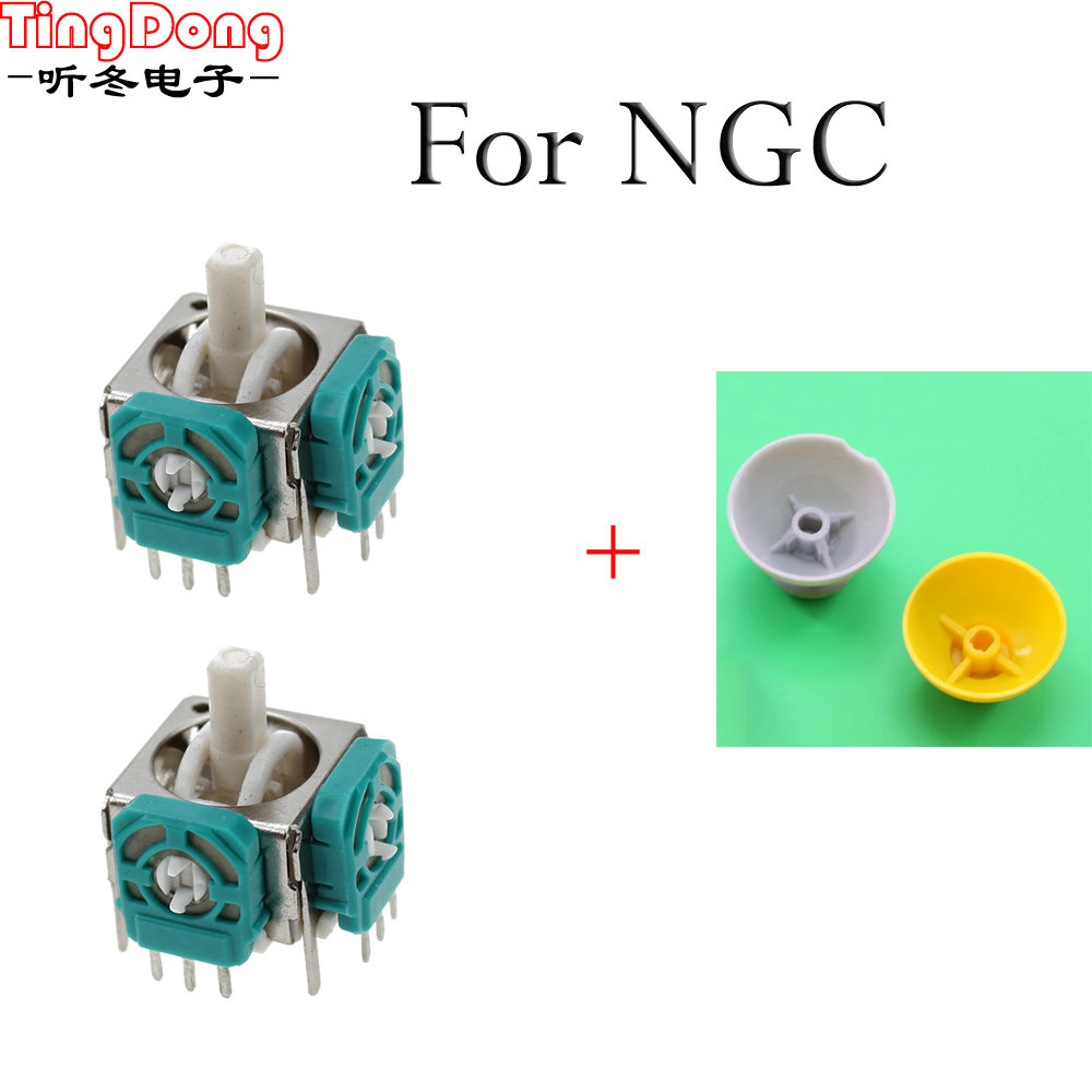For Nintendo Game Cube for NGC Controller Left and Right 3D Analog Joysticks Replacement with Thumbstick Thumb stick Cap