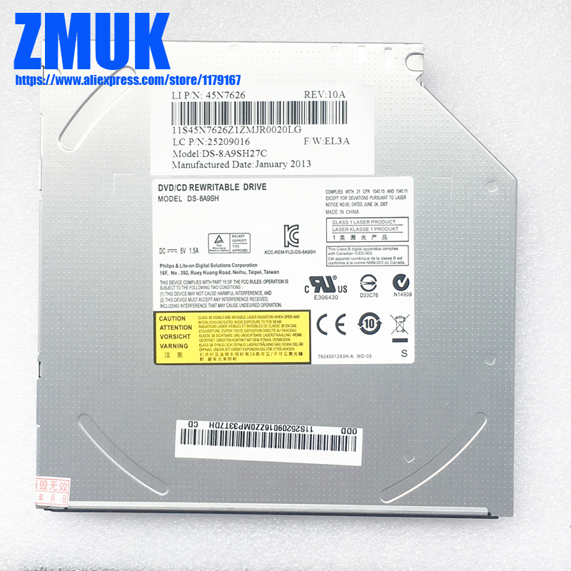 12.7MM Rewritable Drive,DS-8ACSH DS-8A4SH DS-8A5SH DS-8A9SH DS-8A8SH GT50N GT80N GTA0N GTB0N Series