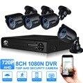 JOOAN 4-канальный видеонаблюдения система супер камера 1mp 1200TVL видеонаблюдения 4 канала 1080p полном 720p АХД видеонаблюдения DVR камеры системы Открытый homesecurity