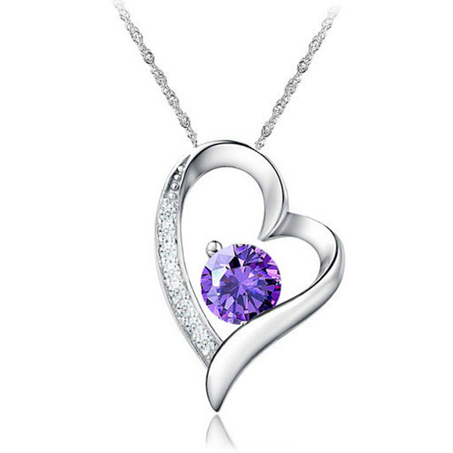 Jemmin Romantic Crystal Heart Necklaces For Women Wedding Jewelry 925 Sterling S