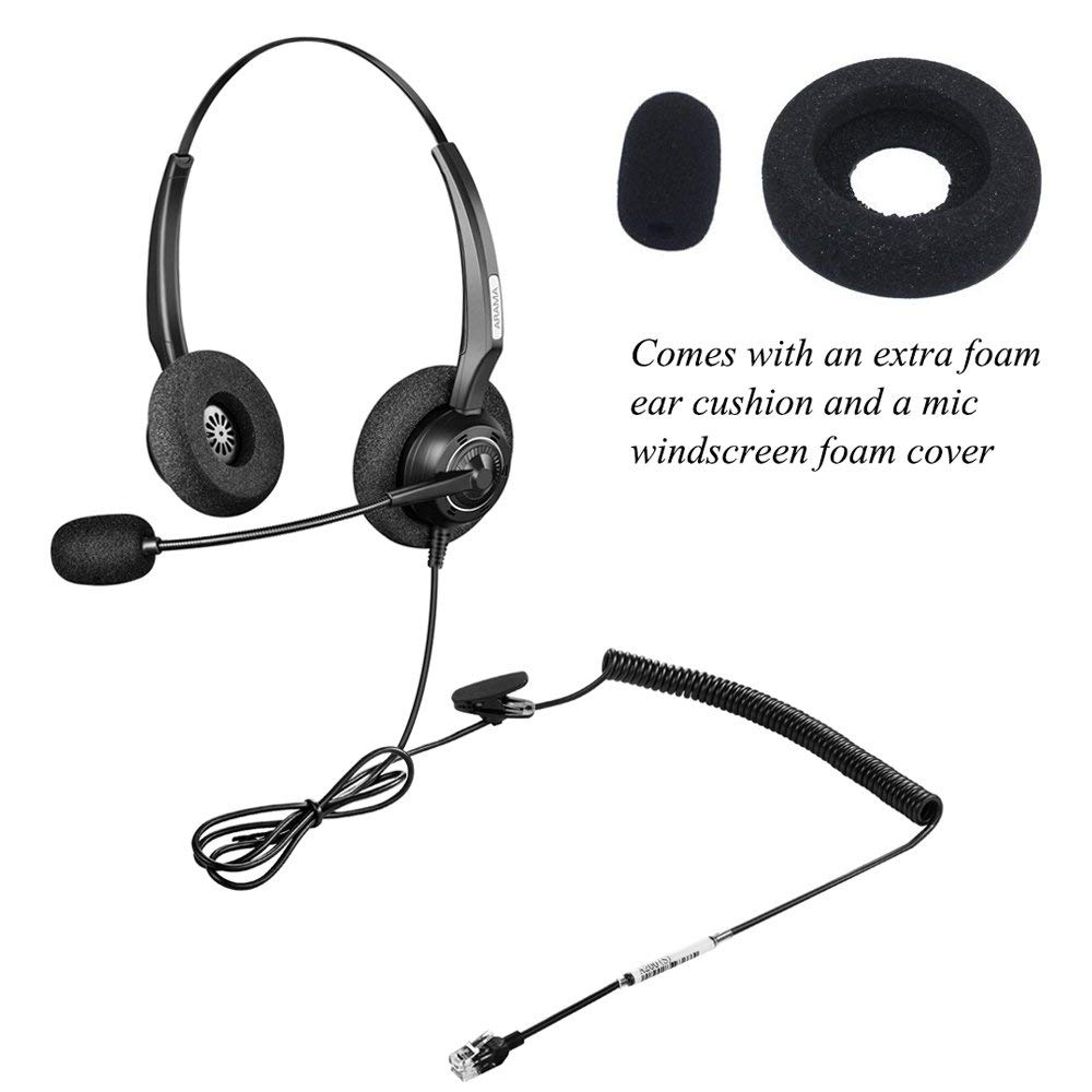 Wantek Arama Telephone Headset W Noise Canceling Mic For Nec Aastra Adtran Alcatel Lucent Avaya Plantronics Landline Deskphones Phone Earphones Headphones Aliexpress