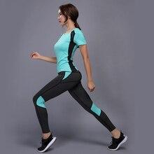 OLOEY, сексуальный комплект для йоги, спортивная одежда для женщин, футболка+ штаны для спортзала, дышащая одежда для тренировок, сжатые Леггинсы для йоги, спортивный костюм