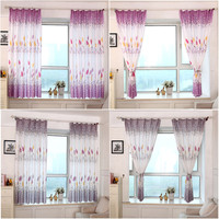2016 Taotown Blinds Curtains For The Kitchen Country Style Print Sheer Window Curtains For The Living