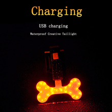 New Usb Charging Creative  Bicycle Light Tail LED Warning Rear Lights Cycling MTB Bike Accessories