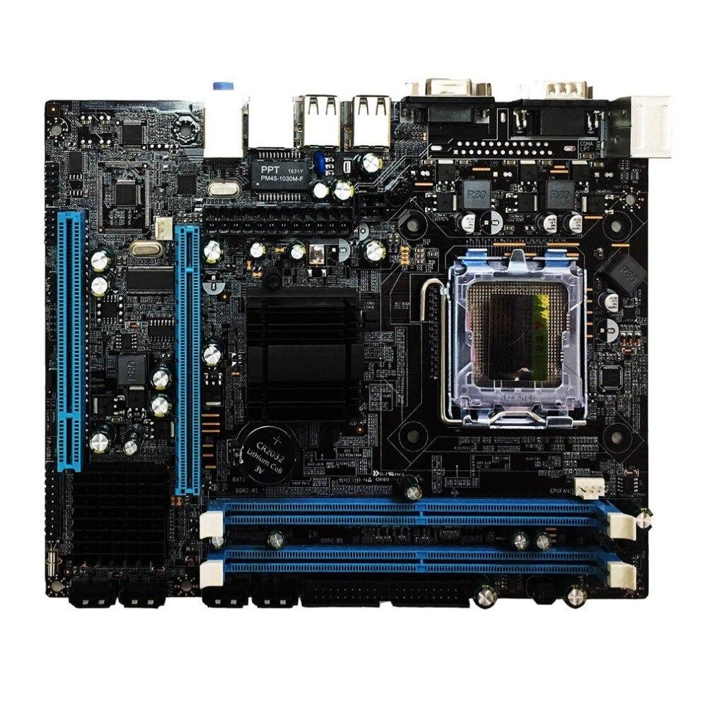 Haute Qualité G31 Ordinateur Carte Mère Dual-Core 771 Carte Mère LGA 775 Carte Mère 771/775 Dualiste DDR2 VGA Haute Compatibilité