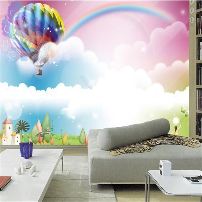 photo wallpaper custom 3D stereo children room bedroom TV backdrop wallpaper colorful dream rainbow mural custom any size mural wallpaper 3d stereoscopic universe star living room tv bar ktv backdrop bedroom 3d photo wallpaper roll
