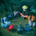 Anime NARUTO figure 11pcs/set Uzumaki Naruto Naruto Beast pvc action figure model toy kawaii doll juguetes brinquedos hot sale