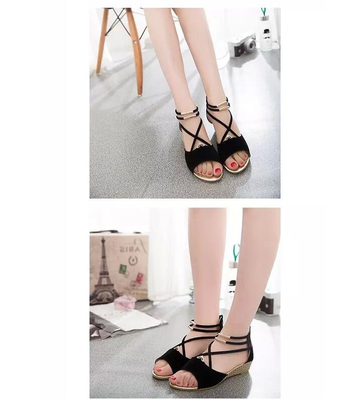 HTB1Hr1boDnI8KJjSszbq6z4KFXa3 XDA 2019 fashion Women zipper sandals Shoes woman footwear sandals Women's summer shoes Gladiator Casual Ladies Shoes