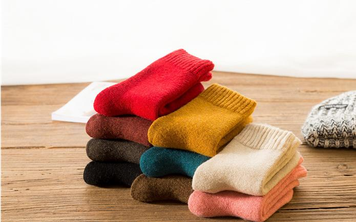 feac967673e Detail Feedback Questions about 10pcs 5pair 22Explosion Autumn And Winter  Thickening Warm Rabbit Wool Female Socks Candy Color Terry Manufacturer  Christmas ...