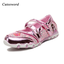 Girls shoes princess 2017 spring childrens kids girls lace cartoon butterfly cute Single girl flats shoe